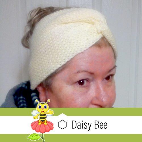 Daisy Bee Twist Turban Cream