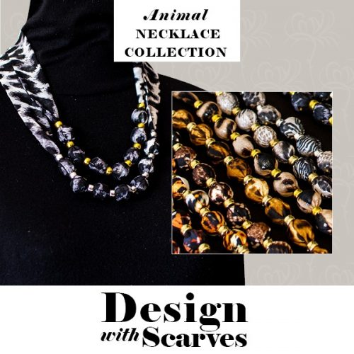 Design with Scarves necklaces