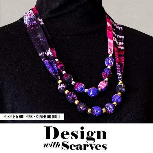 Design with Scarves necklaces12