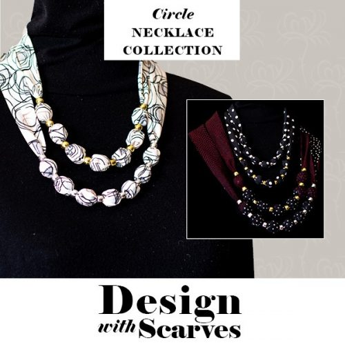 Design with Scarves necklaces14a
