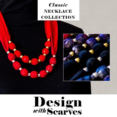Design with Scarves necklaces22
