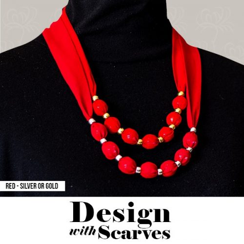 Design with Scarves necklaces24