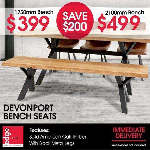 Edge Living Devonport Bench Seats