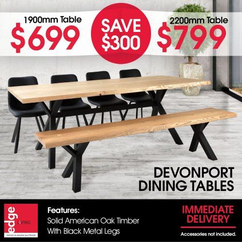 Edge Living Devonport Dining Table