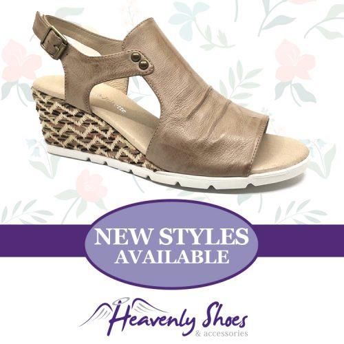 Heavenly Shoes Django Juliette Duane Latte Multi