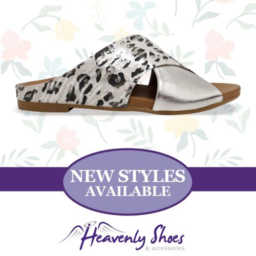 Heavenly Shoes Sala Aidan Silver Snow Leopard