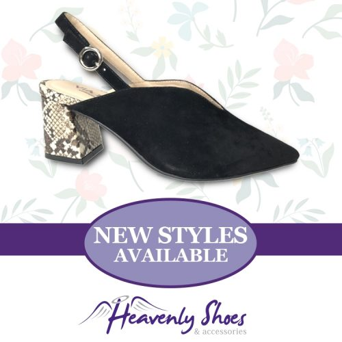 Heavenly Shoes Vago Via Nova Tedd Black Suede