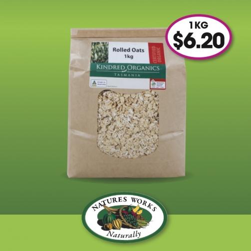 N Works Kindred Organics Rolled Oats 1kg