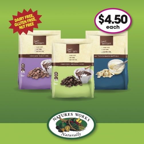 N Works Sweet William Choc Buttons 300g