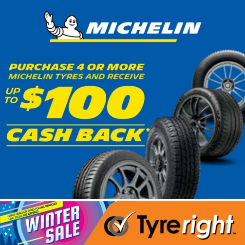 Offer Michelin Cash Back July
