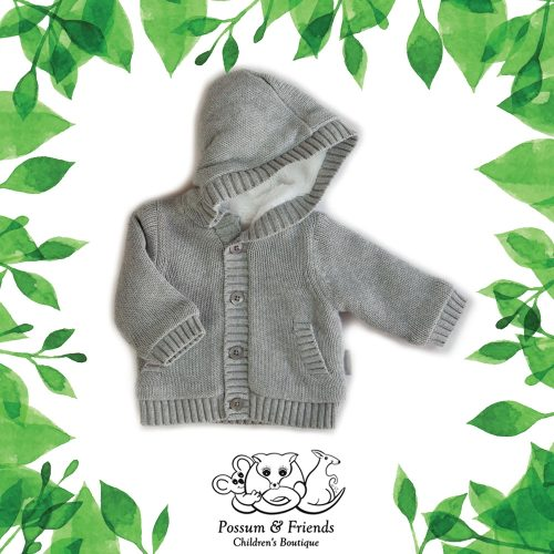 Possum Friends Grey Cardi