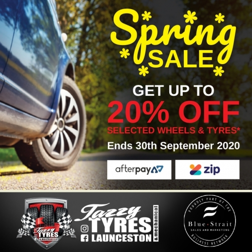 Tazzy Tyres Spring Sale