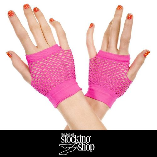The Stocking Shop Pink Net Gloves