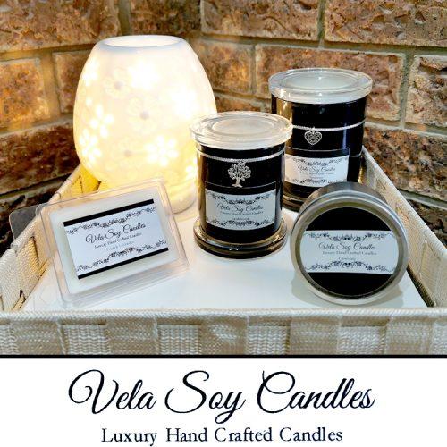 Vela Soy Candles Black Package