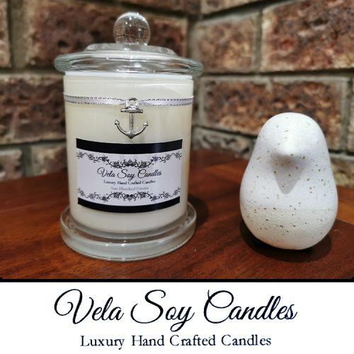 Vela Soy Candles Medium Candle white