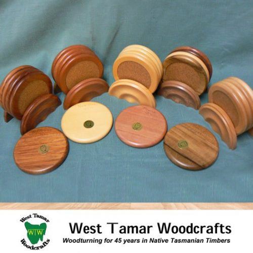 a set of WT Woodcrafts 4 Coasters