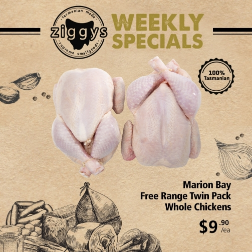 Ziggys MB Twin Pack Whole Chickens 9 90