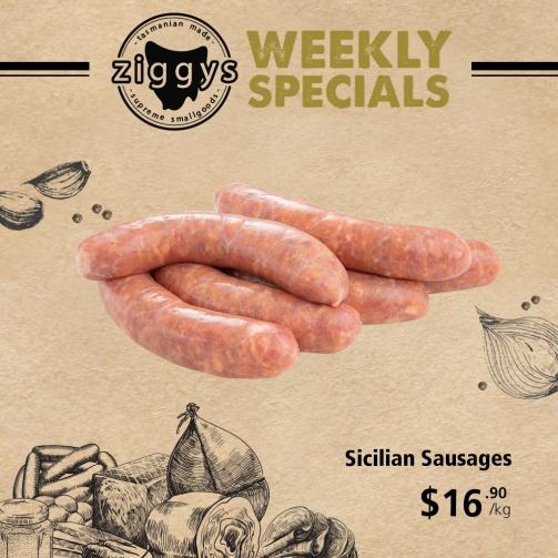 Ziggys Sicilian Sausages 16 90